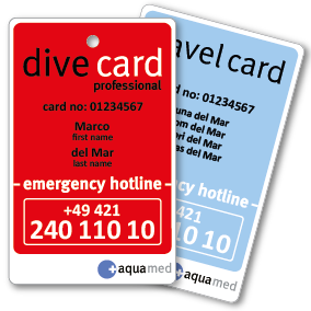 dive card profi + travel